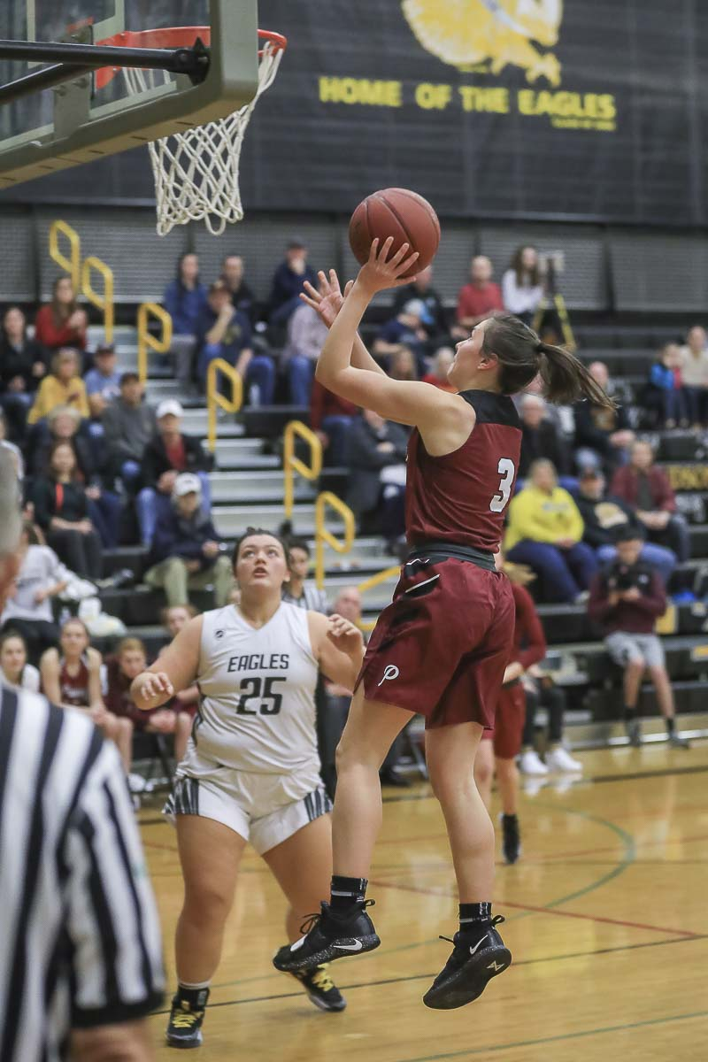 Meri Dunford scored a team-high 17 points, leading Prairie to a key victory over Hudson's Bay on Tuesday. Photo by Mike Schultz