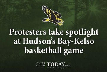 Protesters take spotlight at Hudson's Bay-Kelso basketball game