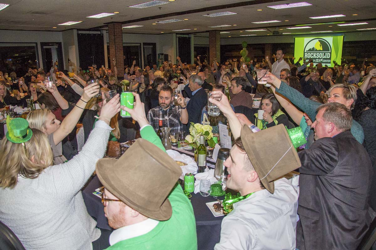 The Lucky Shamrock Auction will include a live and silent auction, games, photo booth, and more. The auction is the largest fundraiser of the year to maintain the Rocksolid Teen Center after-school program. Photo courtesy of Rocksolid Teen Center