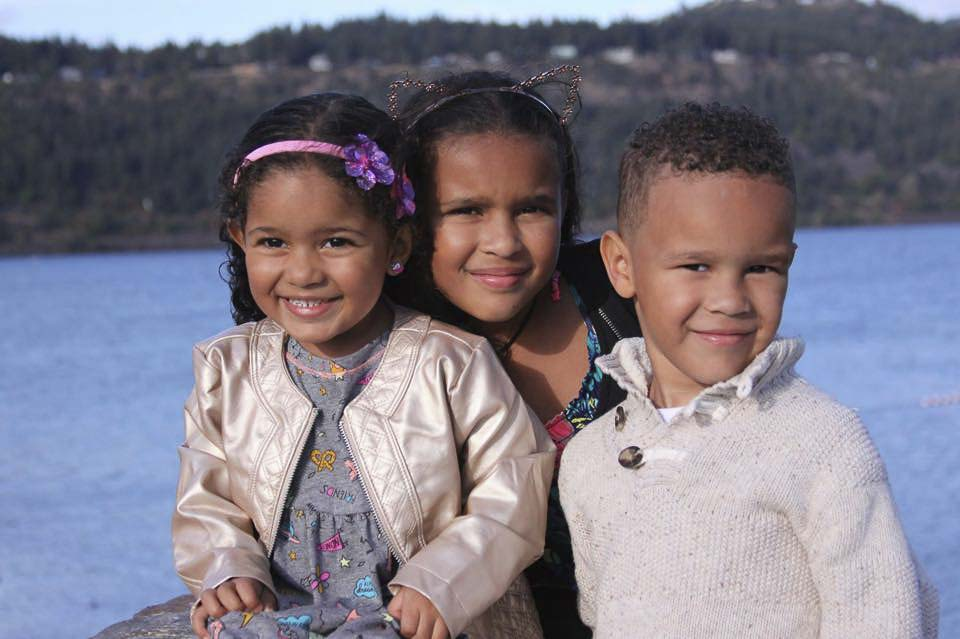 The children of Tiffany and Keland Hill are now living with family back on the east coast. Photo via Facebook