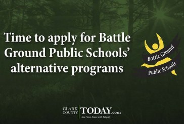 Time to apply for Battle Ground Public Schools' alternative programs