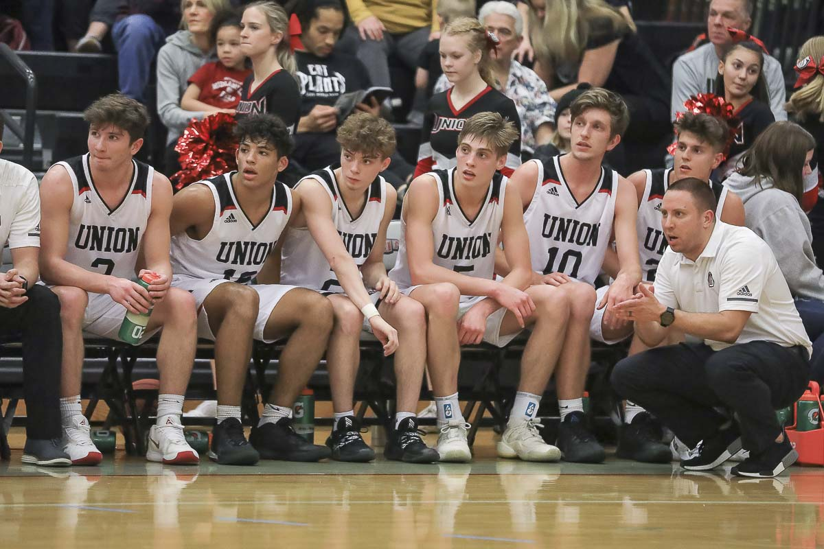The Union Titans improved to 16-0 with a 72-58 win over Skyview on Tuesday. Photo by Mike Schultz