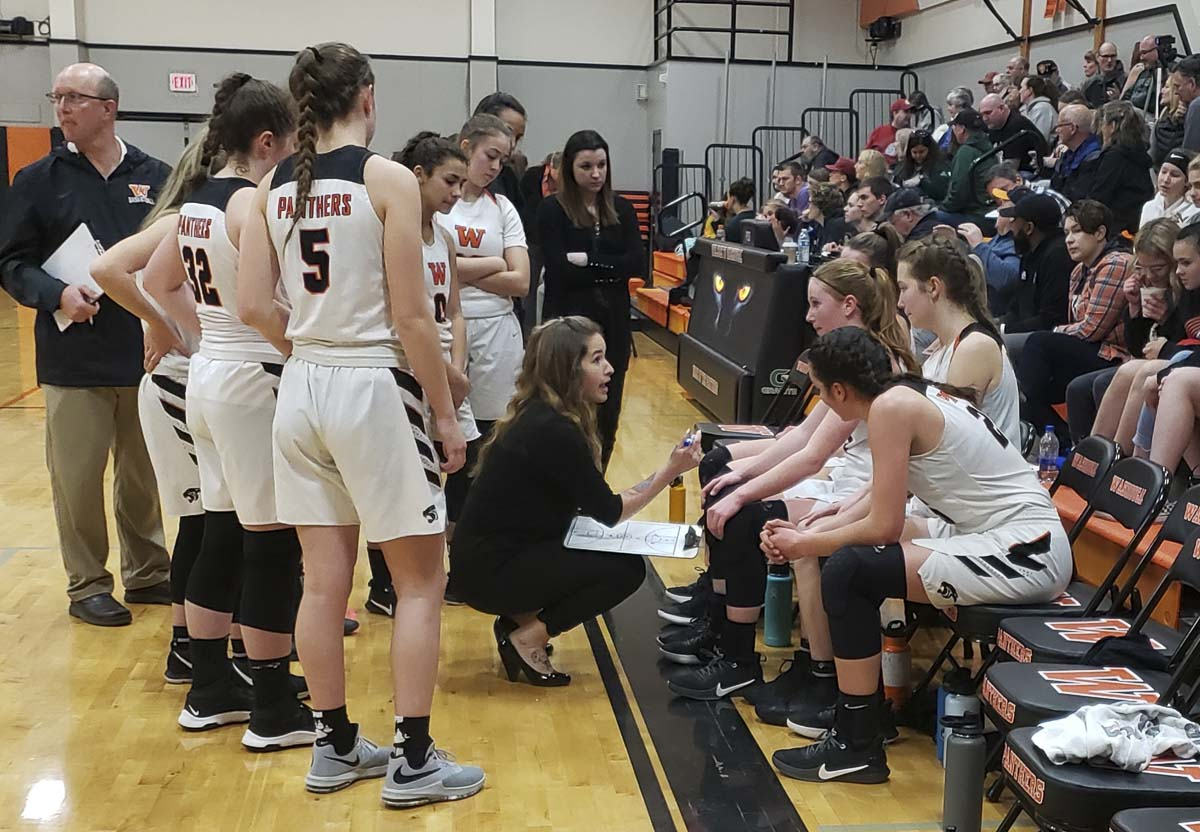 The Washougal Panthers, coached by Brittney Ervin, are off to a 13-2 start this season, a year after winning the Class 2A state title. Photo by Paul Valencia
