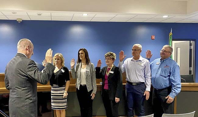 In addition to the re-election of longtime resident/farmer/Mayor Pro Tem Lee Wells and regional trails and community library advocate Sandra Day, the city of Ridgefield also formalized the elections of Jennifer Lindsay, Dana Ziemer, and Rob Aichele.