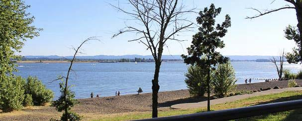 Wintler Community Park will not be accessible by automobile during the road closure. Visitors may still access the park on foot or by bicycle using the Columbia River Renaissance Trail. Photo courtesy of city of Vancouver