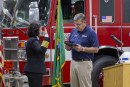 First woman fire chief in Clark County sworn in among family, friends and peers
