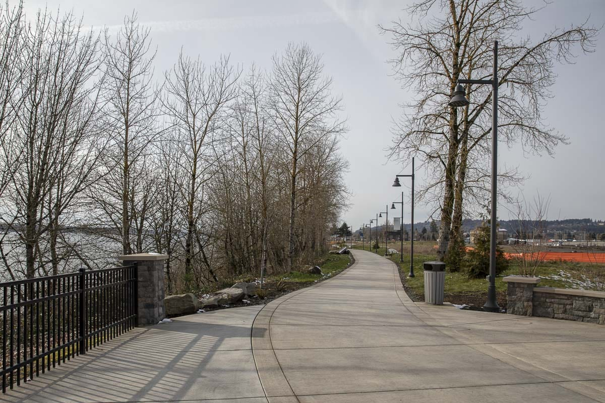 A section of the Columbia River Trail is seen here in Washougal heading towards the Port of Camas-Washougal. Photo by Jacob Granneman
