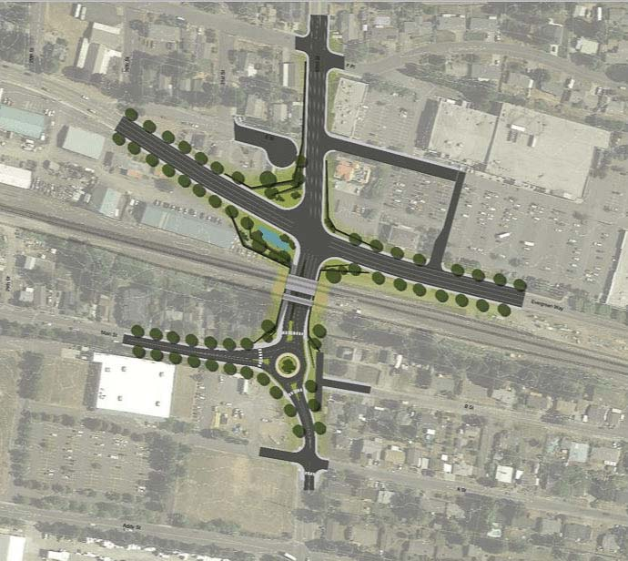 The 32nd Street Underpass project is shown here. Graphic courtesy of the city of Washougal