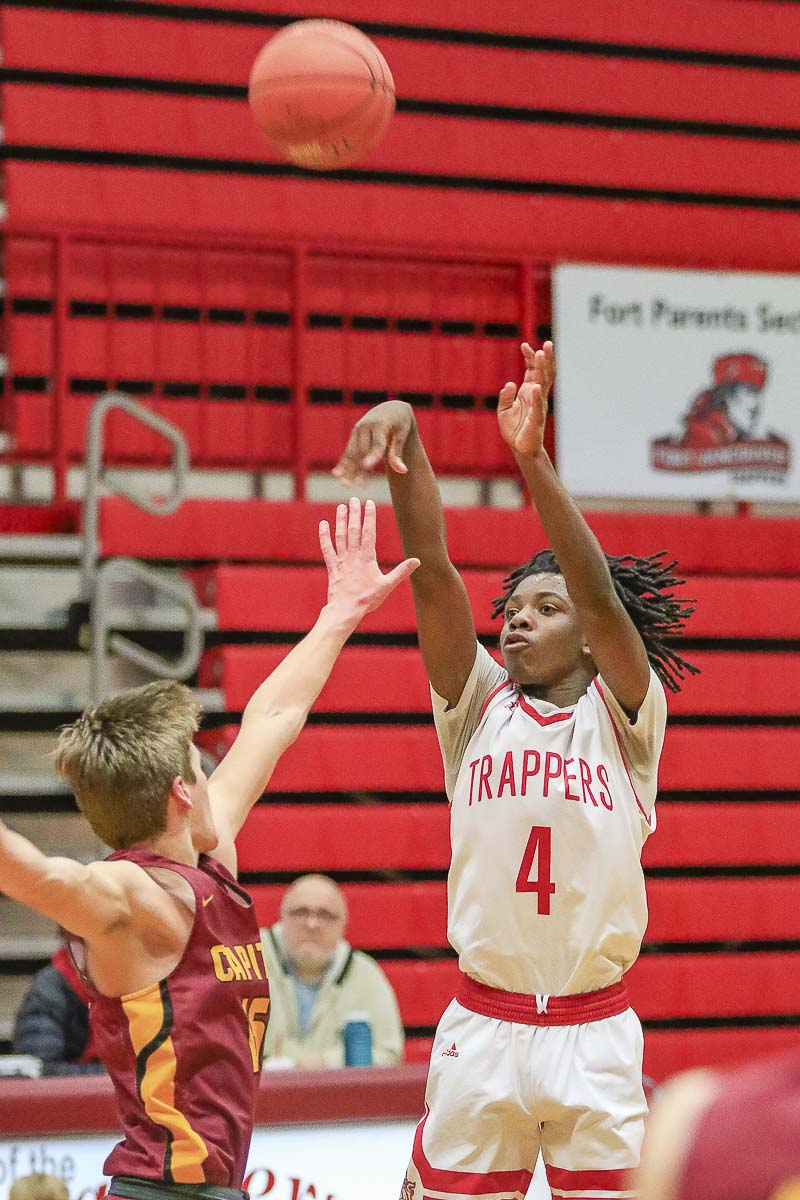 Kahlil Singleton, a sophomore from Fort Vancouver, has a pure shooting stroke. Last month, he made 9 of 13 3-pointers and scored a school-record 55 points in a game. Photo by Mike Schultz