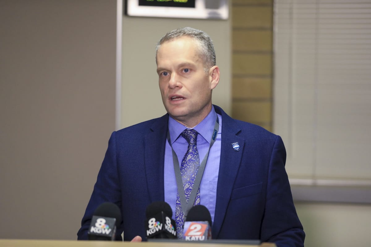 Camas School District Superintendent Jeff Snell will act as interim principal of Camas High School for the short term while the search begins for someone to replace Dr. Liza Sejkora who resigned on Friday. Photo by Mike Schultz