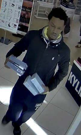 The suspect (pictured) appears to be an adult African-American male in his twenties, slim to medium physical build, goatee, and medium to light complexion. Photo courtesy of Vancouver Police Department