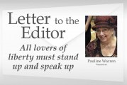 Letter: 'All lovers of liberty must stand up and speak up'