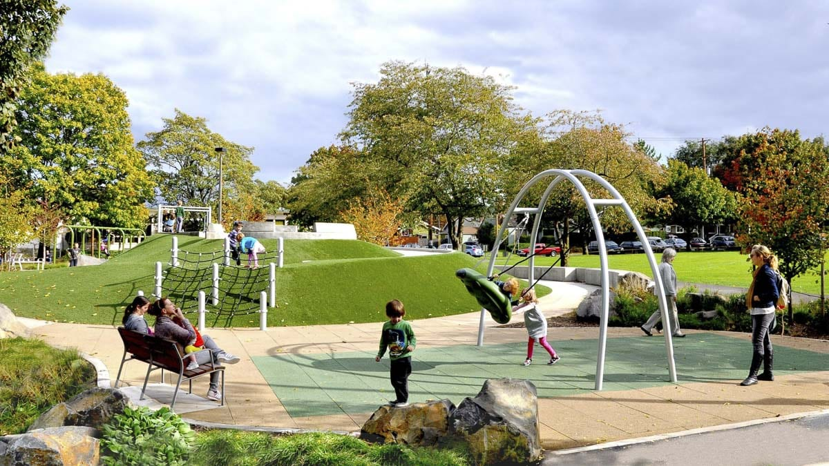 Harper's Playground in Portland is an example of an inclusive park designed to accommodate people of all ages and abilities. Photo courtesy of Ridgefield Public Schools
