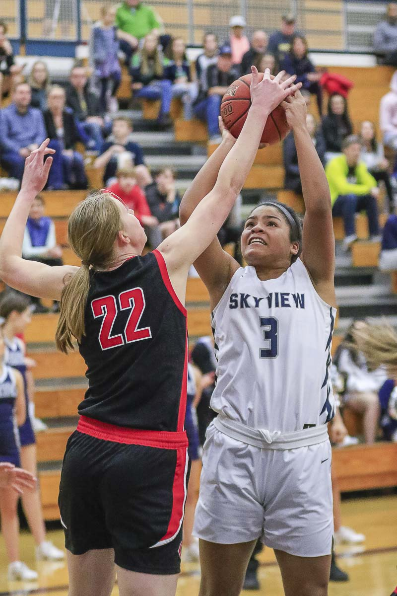 Mikelle Anthony did a lot of everything for the Storm on Monday with 12 points, nine rebounds, three steals and a blocked shot. Photo by Mike Schultz