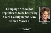 Campaign School for Republicans to be hosted by Clark County Republican Women March 21