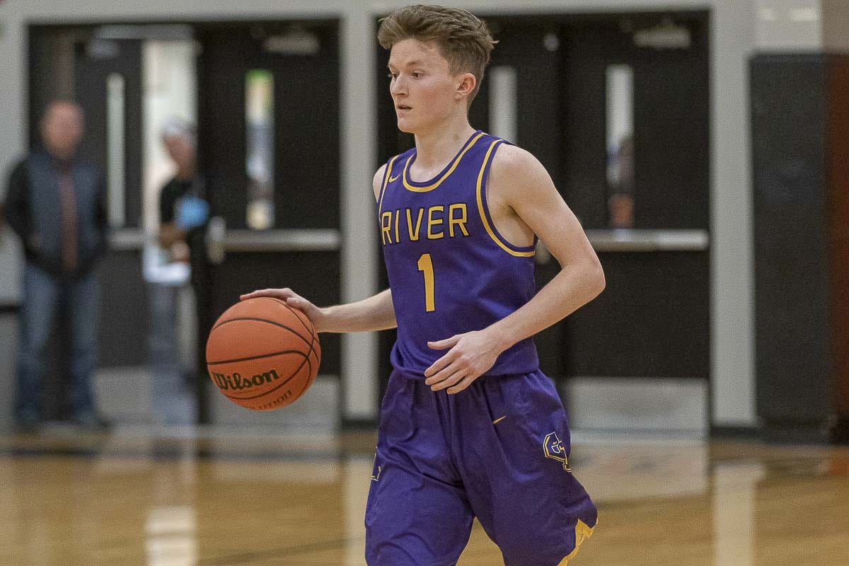 Nate Snook has believed in the Columbia River Chieftains all of his life. Now a senior, he is hoping to help Columbia River place at state this season. Photo by Mike Schultz