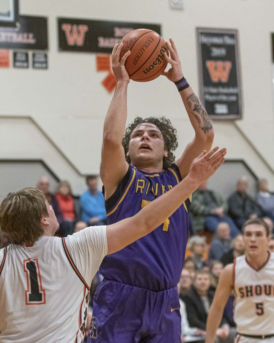 Dylan Valdez of Columbia River surprised a lot of people into becoming one of the best posts in the region this year, according to his coach. Photo by Mike Schultz