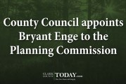 County Council appoints Bryant Enge to the Planning Commission