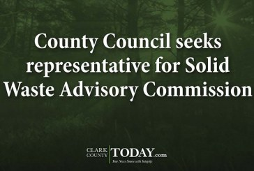 County Council seeks representative for Solid Waste Advisory Commission