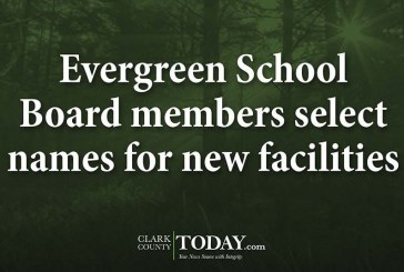 Evergreen School Board members select names for new facilities