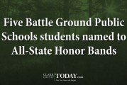 Five Battle Ground Public Schools students named to All-State Honor Bands