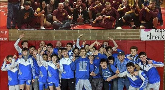 As we prepare for wrestling's postseason, here is a salute to Prairie and La Center for winning league titles