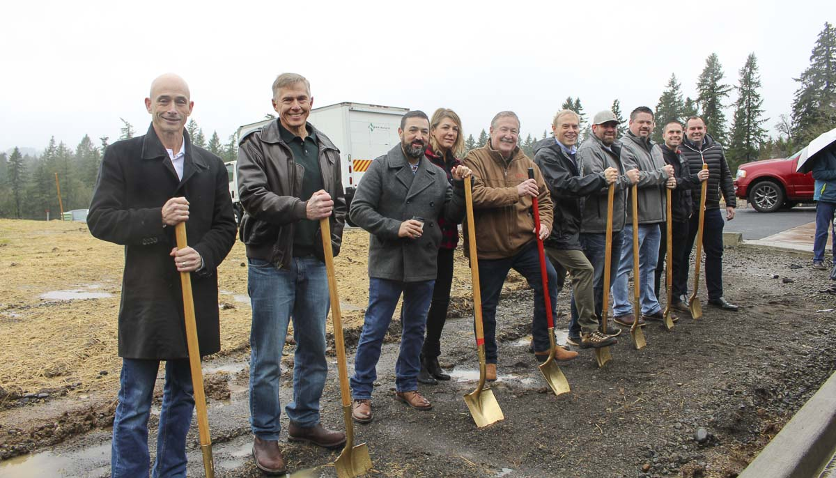 The groundbreaking ceremony for the 2020 NW Natural Parade of Homes took place Wednesday (Feb. 5), featuring the builders, local dignitaries, sponsors and BIA members. Photo courtesy of Building Industry Association of Clark County