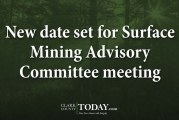 New date set for Surface Mining Advisory Committee meeting