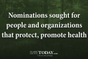 Nominations sought for people and organizations that protect, promote health
