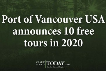 Port of Vancouver USA announces 10 free tours in 2020