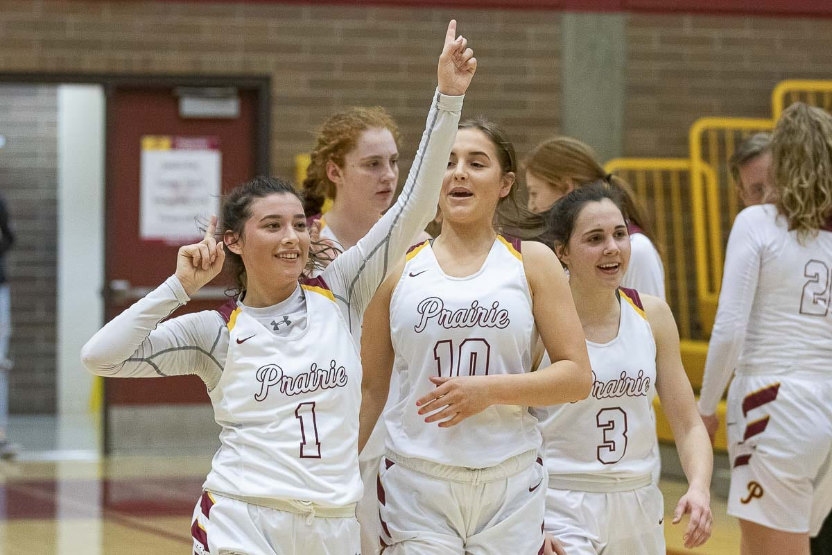 Dayna Vera and the Prairie Falcons celebrate another trip to the state round of 16. This makes for 23 consecutive seasons. Photo by Mike Schultz