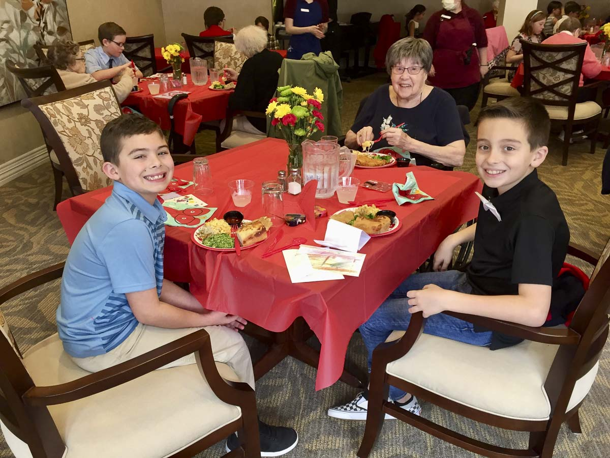 The fourth grade students look forward to spending time with their good friends. Photo courtesy of Ridgefield Public Schools