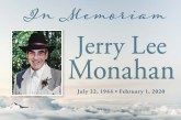 Obituary: Jerry Lee Monahan