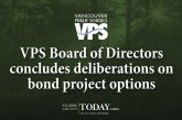 VPS Board of Directors concludes deliberations on bond project options