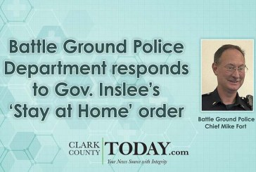 Battle Ground Police Department responds to Gov. Inslee's 'Stay at Home' order