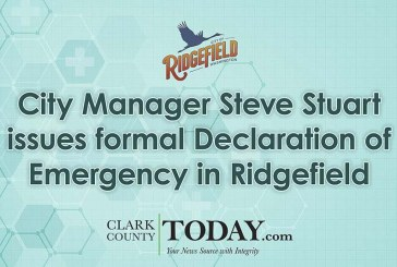 City Manager Steve Stuart issues formal Declaration of Emergency in Ridgefield