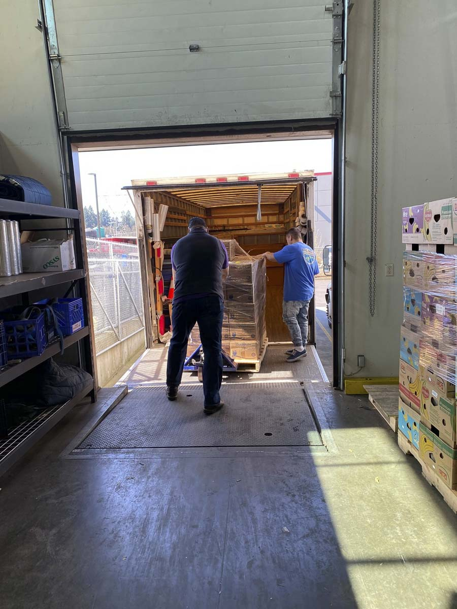 Clark County Food Bank is currently partnering with companies to truck emergency food boxes to low-income senior living facilities across Clark County. Photo courtesy of the Clark County Food Bank