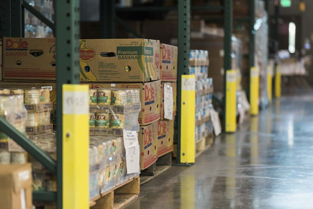 A volunteer crew is currently sanitizing the Clark County Food Bank warehouse and packing facility everyday to maintain cleanliness. Photo courtesy of the Clark County Food Bank