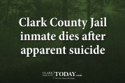 Clark County Jail inmate dies after apparent suicide