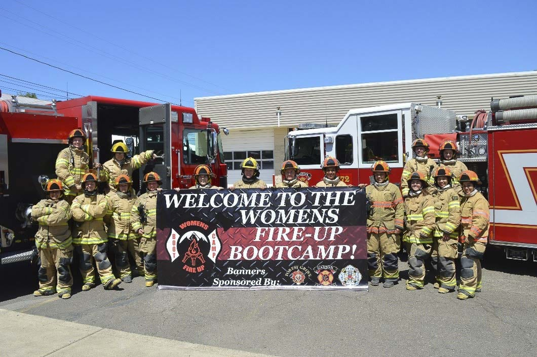 """The nonprofit is hosting three """"bootcamps"""" this summer. Men of color are invited to a training camp July 18-19 at Portland Community College. There are two camps planned for women: June 27-28 at Clark County Fire District 3 (Hockinson, Wash.) and August 15-16 at Hillsboro Fire's Training Facility (Hillsboro, Ore.). Photo courtesy of Clark County Fire District 3"""
