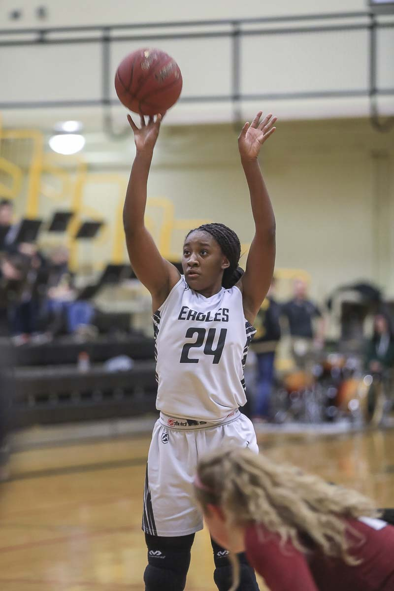 Kamelai Powell, a junior, has helped turn around the Hudson's Bay girls basketball program Photo by Mike Schultz