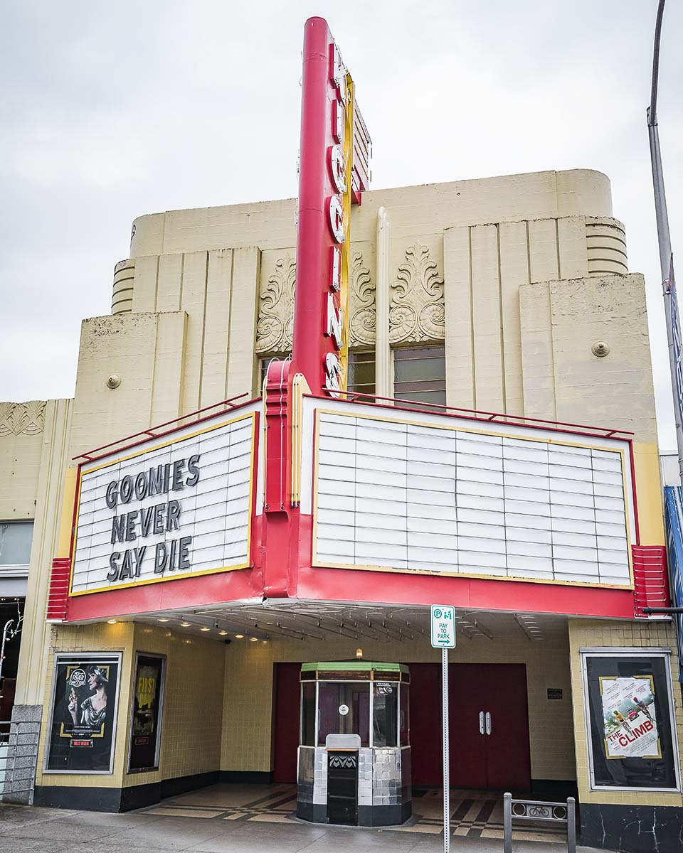 Non-essential businesses, such as the Kiggins Theatre in downtown Vancouver, are temporarily closed by Gov. Jay Inslee's stay-at-order order. Photo by Mike Schultz