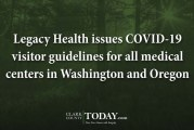 Legacy Health issues COVID-19 visitor guidelines for all medical centers in Washington and Oregon