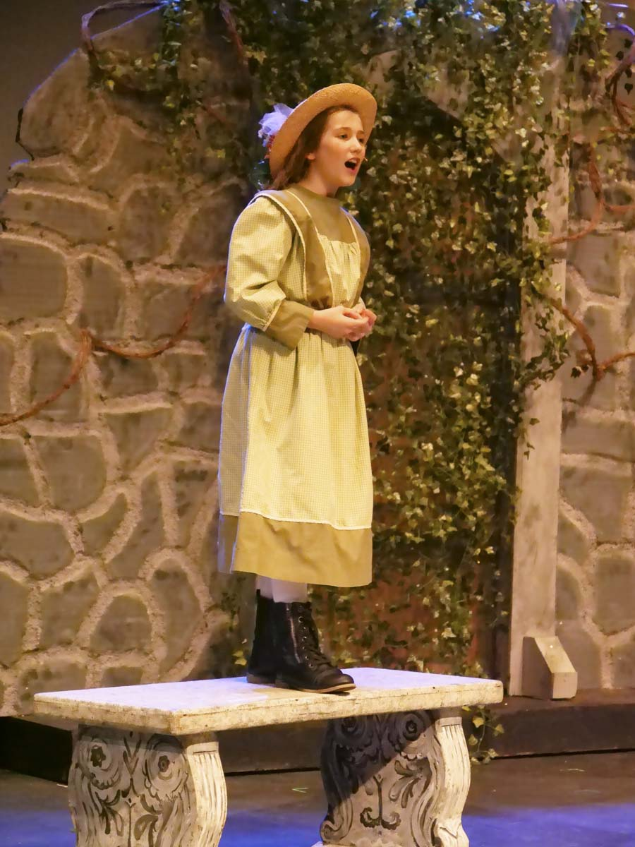 The character of Mary Lennox sings while inside the secret garden in Journey Theater's production, now canceled due to COVID-19. Photo courtesy of Journey Theater Arts Group