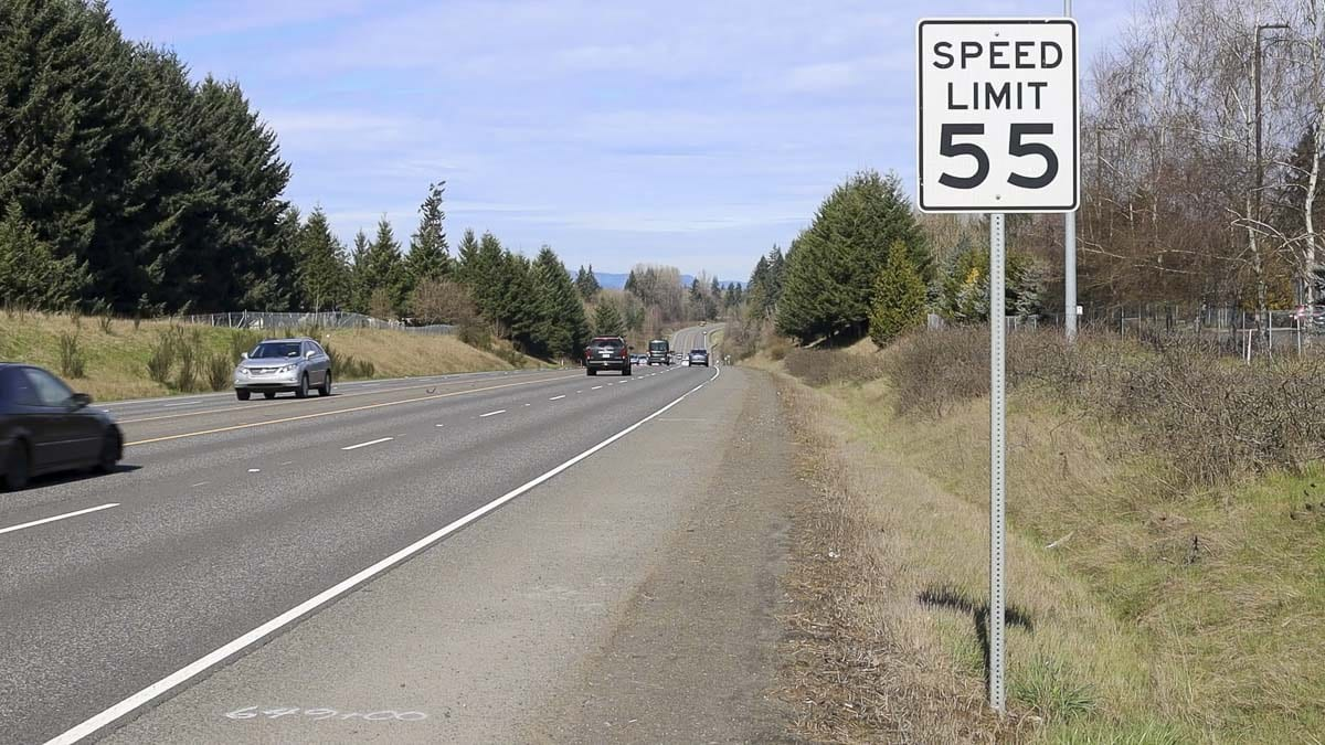 A concrete barrier will soon be installed along SR-503 from 154th Avenue to Main Street in Battle Ground, including this stretch where a head-on crash killed three people last week. Photo by Chris Brown
