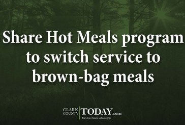 Share Hot Meals program to switch service to brown-bag meals