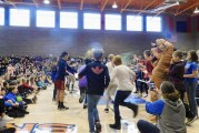 Ridgefield students Silly String teachers for fundraiser