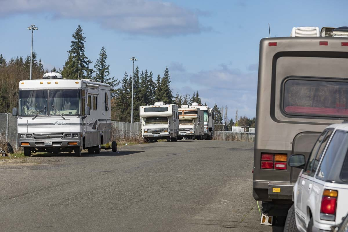 Clark County Council adopted new rules this week aimed at preventing long-term parking of RVs on county roads. Photo by Mike Schultz