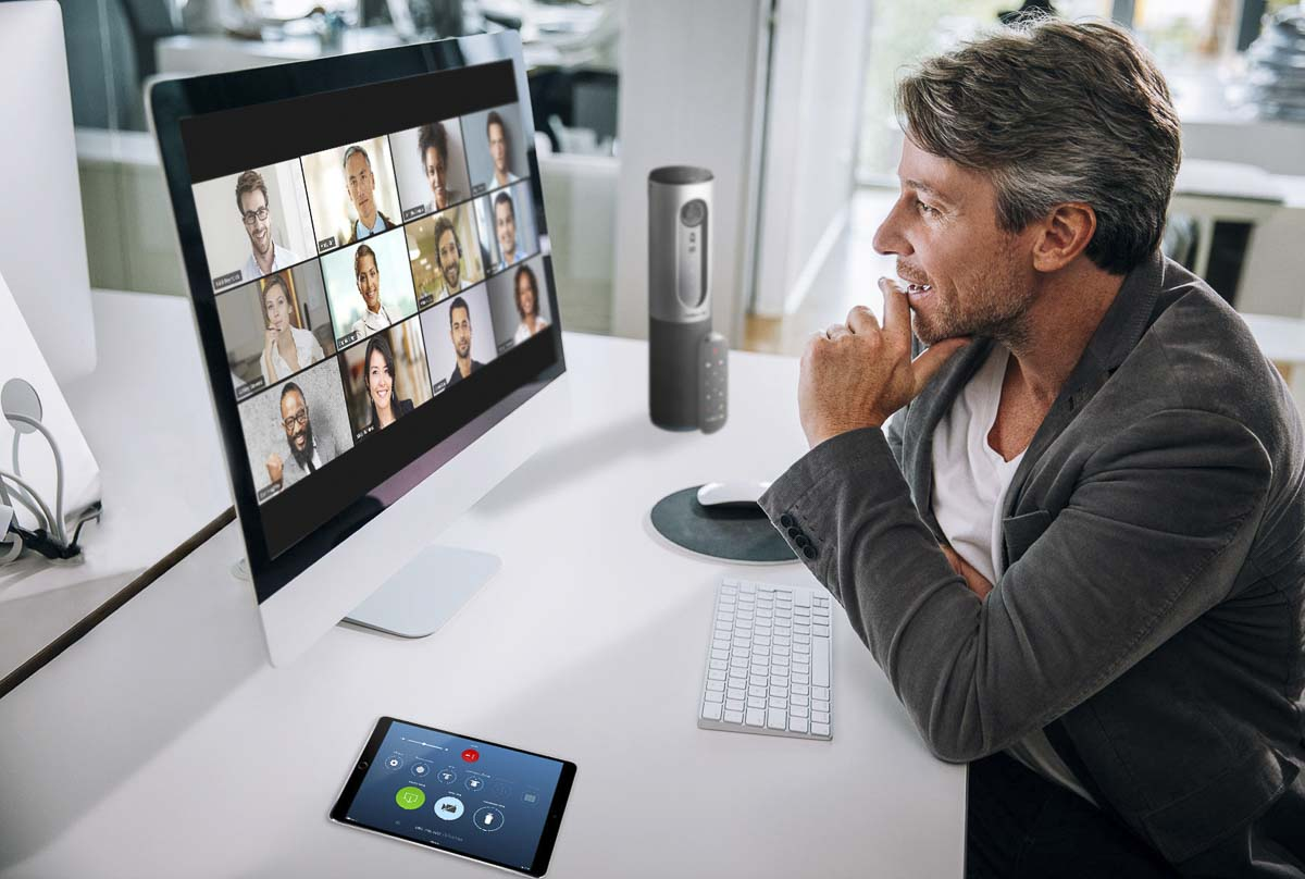 This is the interface users will see when using Zoom for video calling with individuals or groups. Photo courtesy of Zoom Video Communications