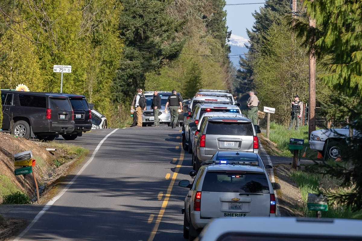 People are being asked to avoid the area around 159th Street in Vancouver as the investigation unfolds. Photo by Mike Schultz